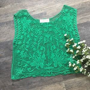 Abercrombie and Fitch crochet crop top